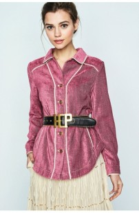 HIGHLY PREPPY Velvet Overshirt