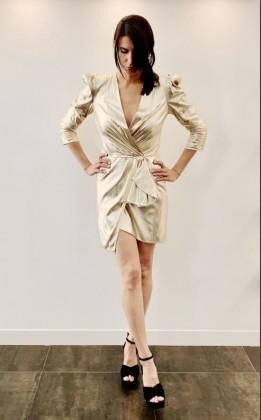 ELISABETTA FRANCHI GOLD DRESS