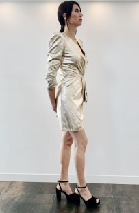 ELISABETTA FRANCHI GOLD DRESS