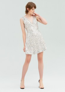 FRACOMINA DRESS WITH SEQUINS