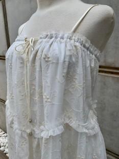 MOUTAKI EMBROIDERED GAUZE DRESS